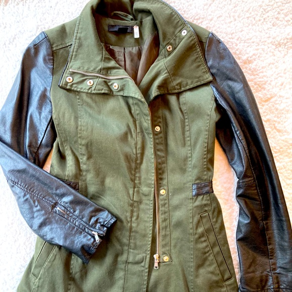 H&M canvas and faux leather jacket.
